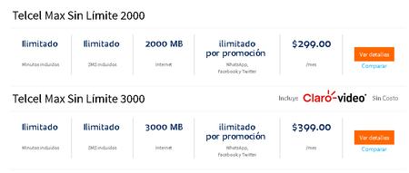 Telcel Max Sin Limite Redes Sociales Ilimitadas Mexico