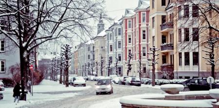 Frogner Lovenskiolds Gate Vinter Foto Anna Pavlyuc