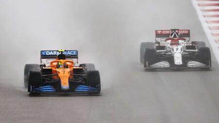 Norris Raikkonen Rusia F1 2021