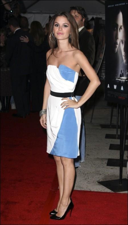 Rachel Bilson Minivestido Azul Blanco