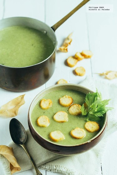 Sopa de vegetales verdes para el otoño. Receta