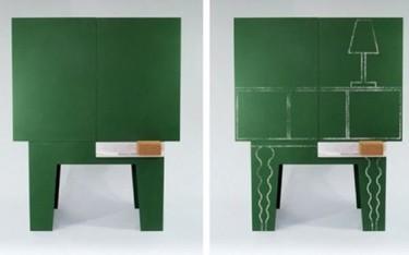 Dibuja tus propios muebles sobre pizarra
