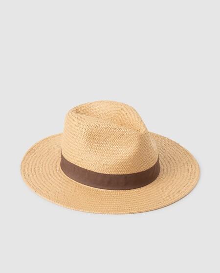 Sombrero De Playa Natural Con Cinta