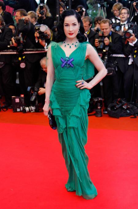 Dita von Teese Festival de Cannes peor vestidas