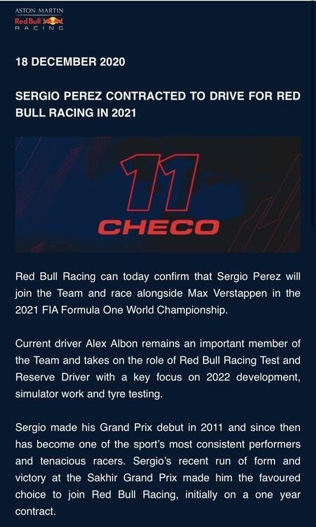 perez Red Bull