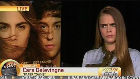 A Cara Delevingne nadie le toma el pelo, y así lo hace saber en una entrevista en directo