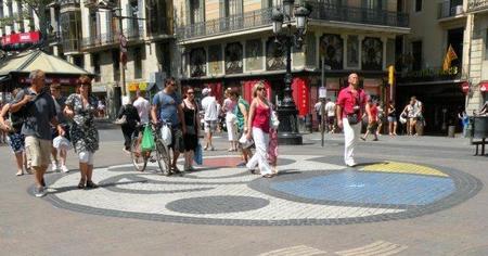 El mosaico de Miró en la Rambla de Barcelona
