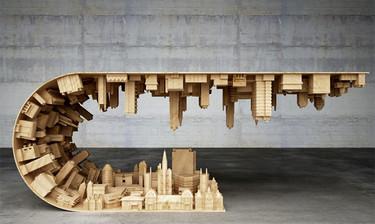 Las extraordinarias mesas de Stelios Moussaris inspiradas en el cine
