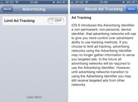 iOS 6 nos permitirá impedir que las empresas lean nuestras cookies para enviarnos publicidad personalizada