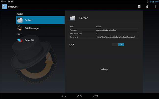 ClockworkMod Superuser en CyanogenMod