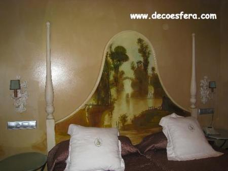 cabecero pintado hotel Sacristía Decoesfera
