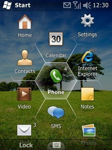 Windows Mobile 6.5, mejoras en el uso de la pantalla táctil