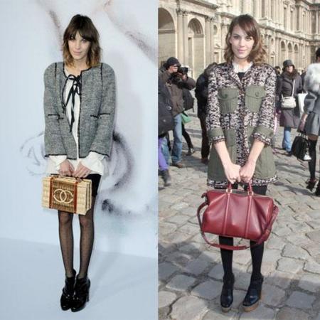 Alexa Chung y sus looks en el front-row de París