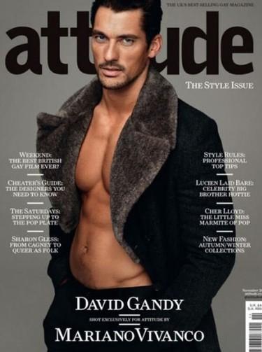 David Gandy en la portada de 'Attitude' especial estilo Otoño-Invierno 2011/2012