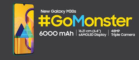 Samsung Galaxy M30s: triple cámara trasera de 48 MP para el primer teléfono de Samsung con batería de 6.000 mAh