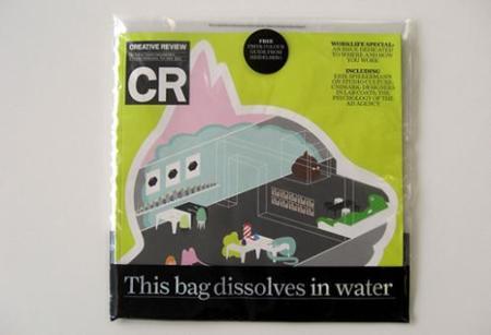 La bolsa de la revista CR que se disuelve en agua