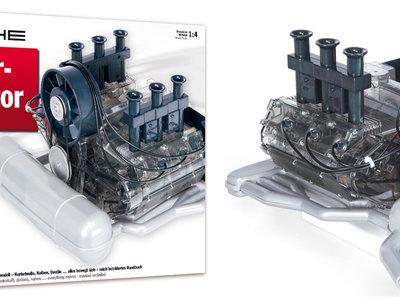 Este motor bóxer de Porsche a escala 1:4 busca amantes que lo monten, y lo puedes ver en vídeo