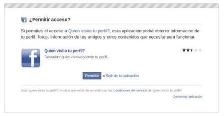 Facebook visita perfil