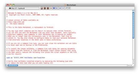Eddie, un sencillo editor de código para Mac OS X