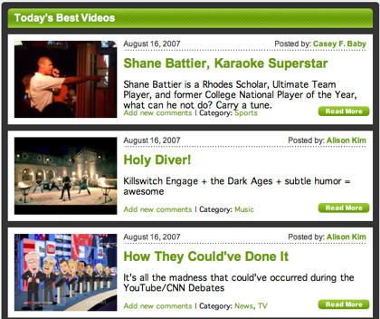 Gloob.tv, recopilación de los mejores vídeos