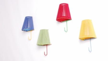 Peggy, colgadores que parecen lámparas