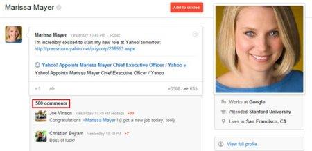 Google+ y la absurda limitación de los 500 comentarios