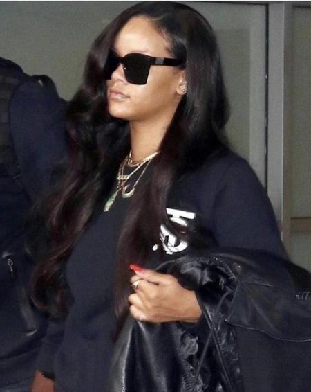 Rihanna Wearing The Thomas Burberry Monogram