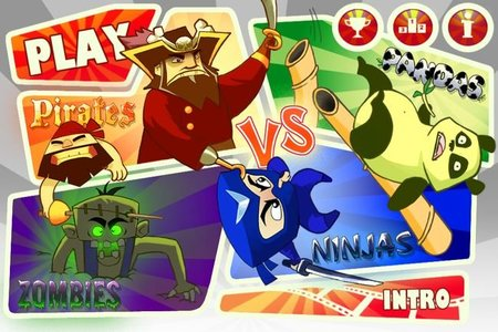 'Pirates vs. Ninjas vs. Zombies vs. Pandas'. Copiando la fórmula 'Angry Birds'