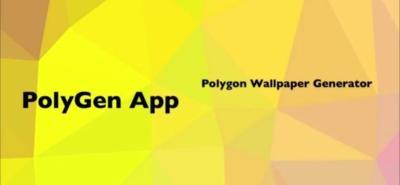 Crea tus fondos de pantalla poligonales con PolyGen Wallpaper Generator