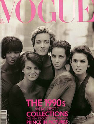 El top model pack de los 90's en Vanity Fair