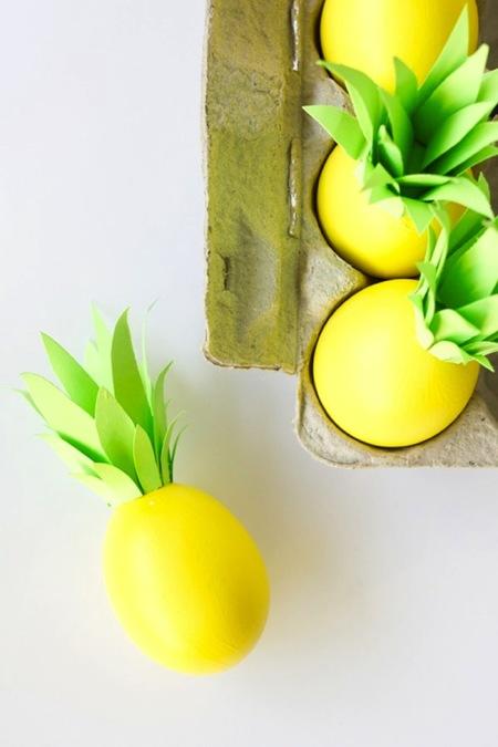 Este año no podían faltar los huevos de Pascua inspirados en piñas