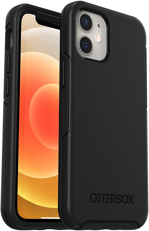 OtterBox Symmetry, funda anticaídas, fina y elegante para Apple iPhone 12 mini Negro, sin embalaje