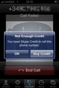 Skype funciona sin wifi