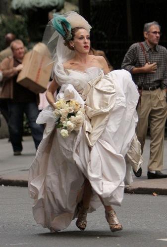 El vestido de novia de Carrie Bradshaw en Sexo en Nueva York