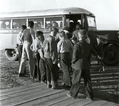 Autobús escolar. Arizona, noviembre de 1940