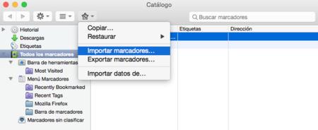 Marcadores Firefox