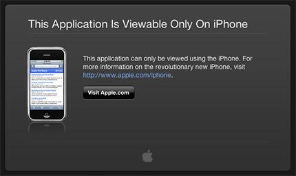 ¿Primera aplicación web de Apple para el iPhone?