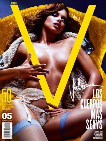 Adriana Lima totalmente impresionante en topless en V Magazine