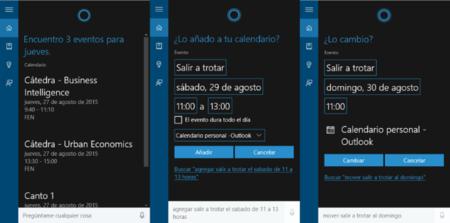 Cortana Calendario Win10