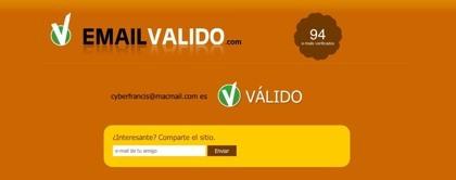 Emailvalido.com, comprueba si existe cualquier dirección de correo electrónico