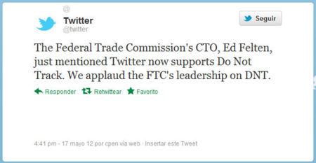 """Twitter ya soporta el """"Do Not Track"""" de Firefox"""