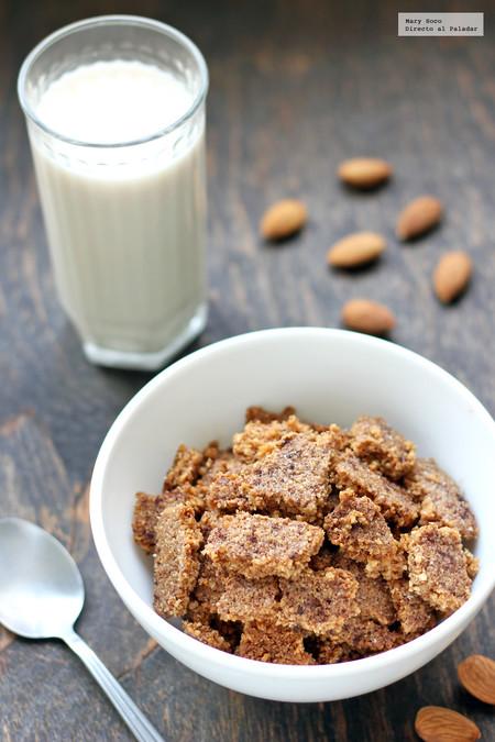Cereal de almendra, coco y canela sin gluten. Receta baja en carbohidratos