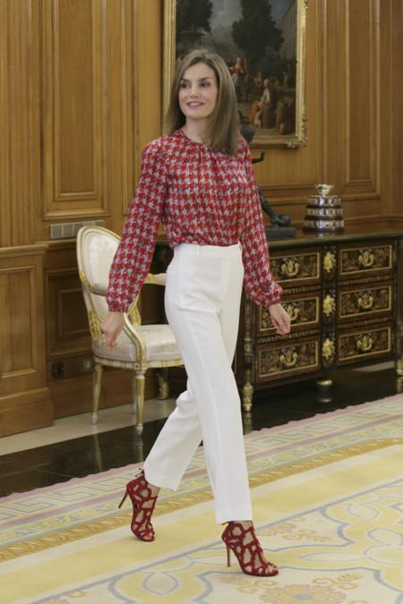 Reina Letizia Audiencias Carolina Herrera Pata Gallo 2