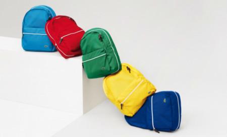 Lacoste y sus mochilas a todo color para la primavera
