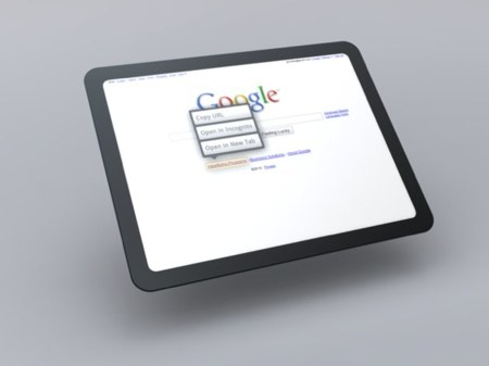 Mockup del Tablet OS de Google