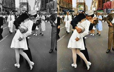 Míticas fotografías en blanco y negro coloreadas hoy