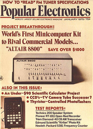Altair 8800 Popular Electronics Magazine