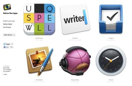 RetinaMacApps.com te enseña qué aplicaciones de OS X están preparadas para las pantallas retina