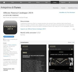 Panerai presenta la aplicación Panerai Catalogue 2014 y la web Luminor 8 Days.