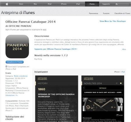 Panerai presenta la aplicación Panerai Catalogue 2014 y la web Luminor 8 Days.
